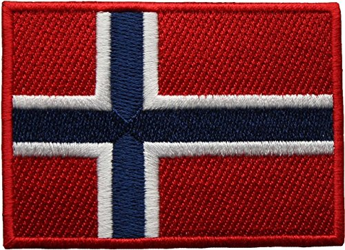 NORWAY FLAG NORWEGIAN EMBLEM EMBROIDERED PATCH Badge Iron-on