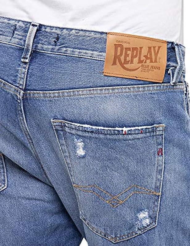 Replay Męskie Tinmar Tapered Fit Jeans: Odzież
