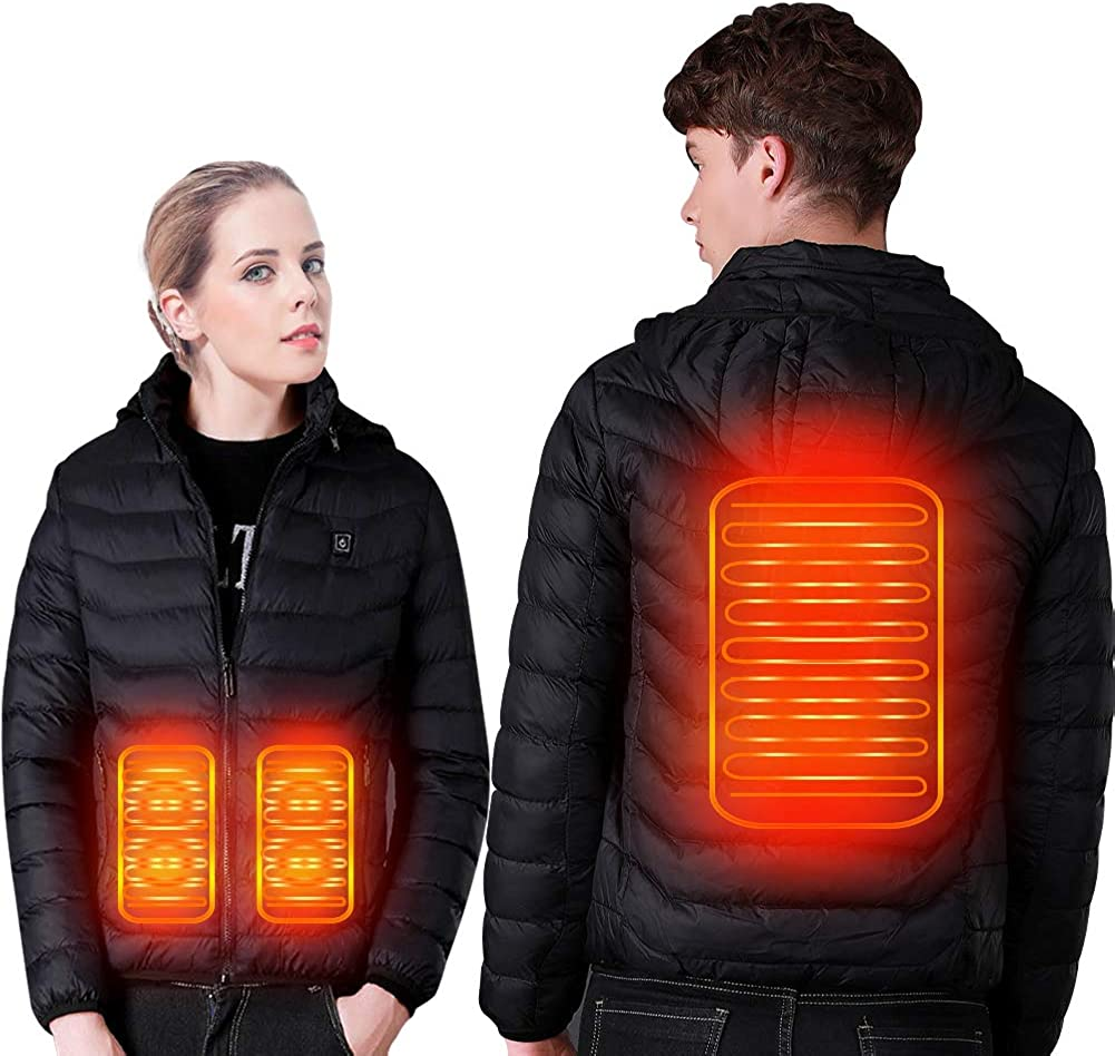 SUPTEMPO Women's Men's Heated Jacket Electric Heating Jacket Winter Warm Jackets for Women and Man: Clothing