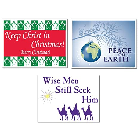 victorystore merry christmas religious yard sign set of 3 3 different signs 6