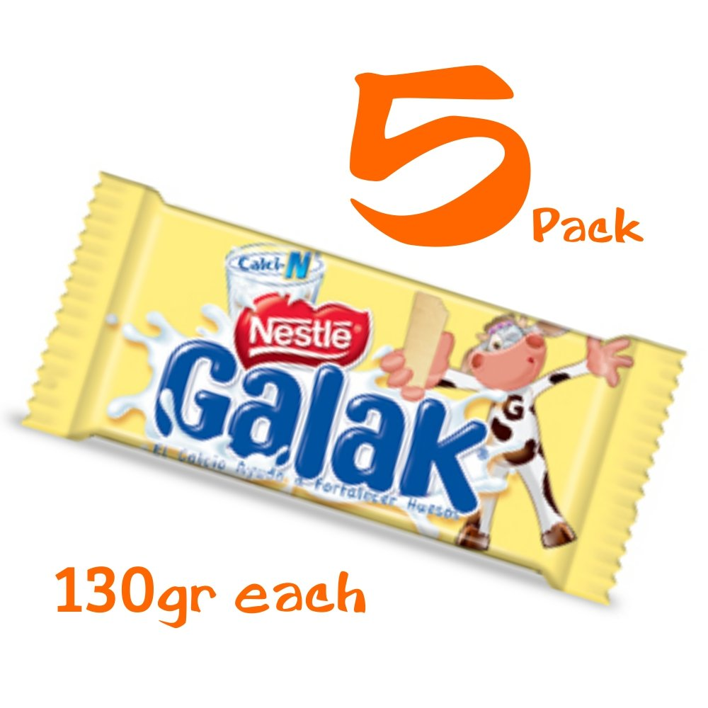 Galak Chocolate de Leche Venezuela 130 gr (5 Pack/130 gr) by Sindoni