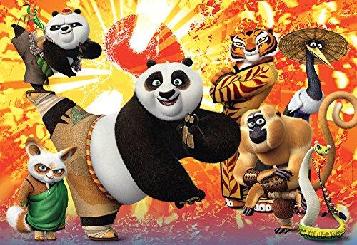 Clementoni puzzle 40 pezzi multicolore dal tema kung fu panda 3