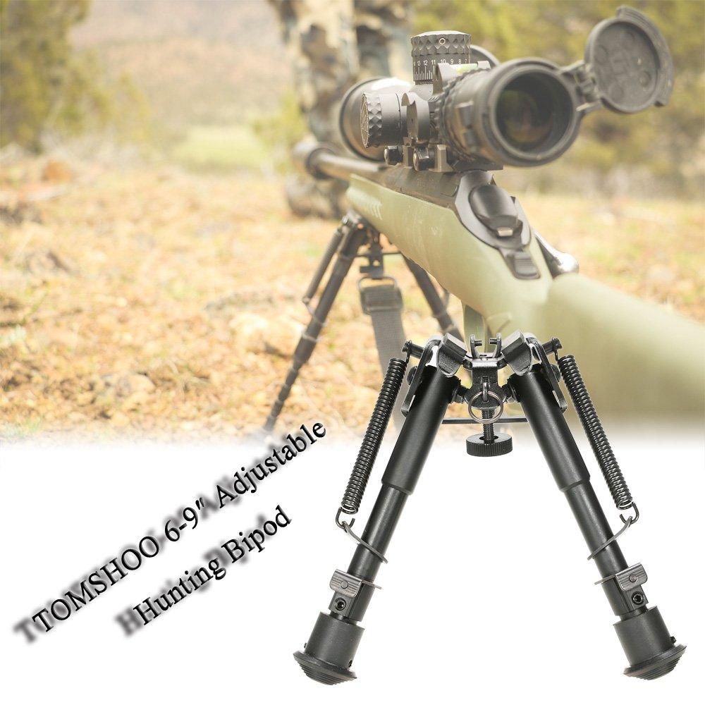 TOMSHOO 6 to 9 Horquillas y B/ípodes para Armas de Caza Adjustable