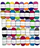 Image of Miragoodsbasics Basic 40 Assorted Colors Acrylic Yarn Skeins with 3 E-Books