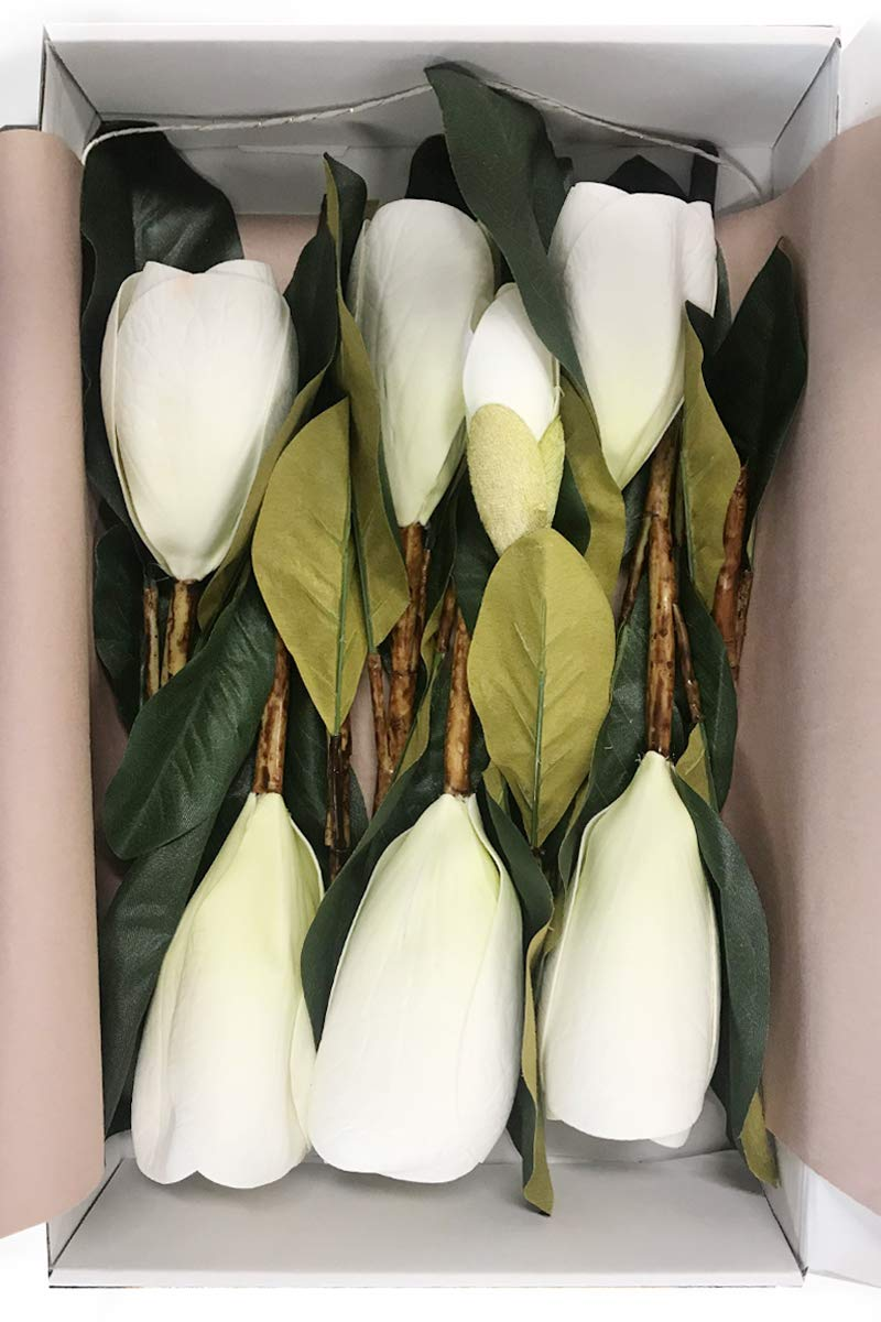 Lings-moment-Pack-of-6-Large-Real-Touch-Artificial-Magnolia-Flowers-Stems-for-DIY-White-Wedding-Bouquets-Centerpieces-Arrangements-Home-Table-Decor