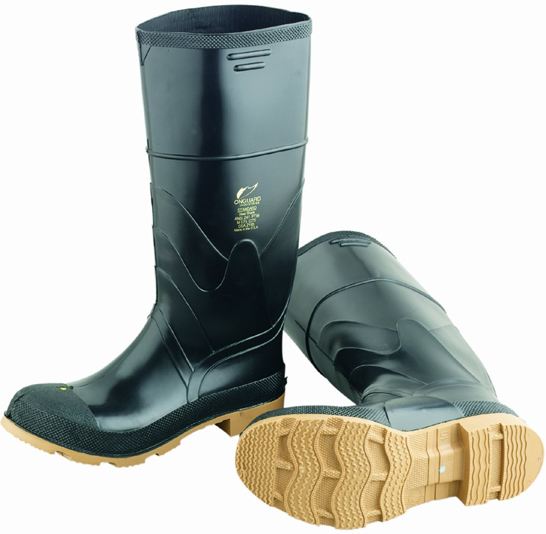 ONGUARD 86312 Standard Men's Steel Toe Knee Boots with Cleated Outsole, 16'' Height, Size 12