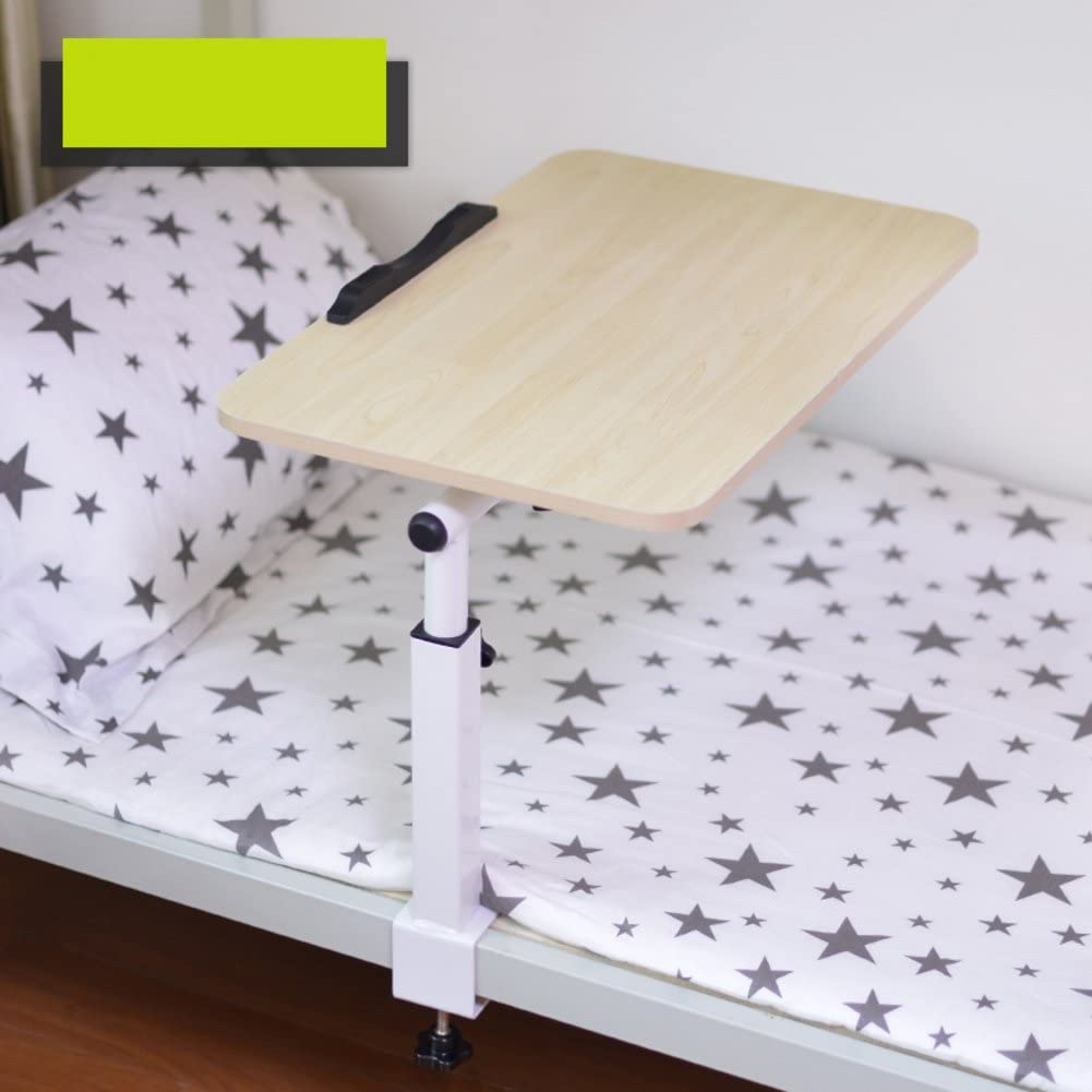 Adjustable Laptop Table Notebook Stand Portable Standing Bed Desk Foldable Sofa Breakfast Tray Bed with fold Dormitory Lazy Desk Small Table Bedroom Study Desk-C