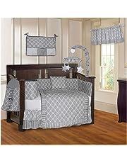 BabyFad Clover Grey 10 Piece Baby Crib Bedding Set