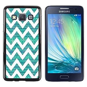 Be Good Phone Accessory // Dura Cáscara cubierta Protectora Caso Carcasa Funda de Protección para Samsung Galaxy A3 SM-A300 // Native Teal Pattern Vintage