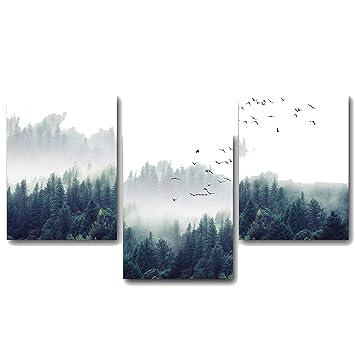 Grass Nature Wall Art Canvas Poster Landscape Print Nordic Decoration Picture