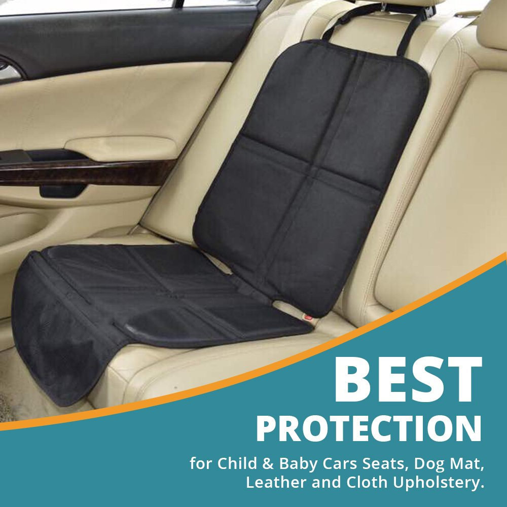 Child Car Seat Protector, Includes Storege Pockets, Dog Mat, Non Slip and Water Proof Protection, Durable Premium Materials, 100% Satisfaction Guarantee. Ningbo YOBO
