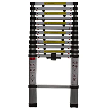 Restonc Telescopic Extension Ladder Heavy Duty Giant Aluminum Length Up To  12.5 Feet Multi Purpose