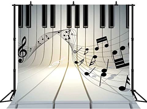 12 NEON Colored MUSIC NOTES Cutouts Piano Recital Birthday Party Decorations
