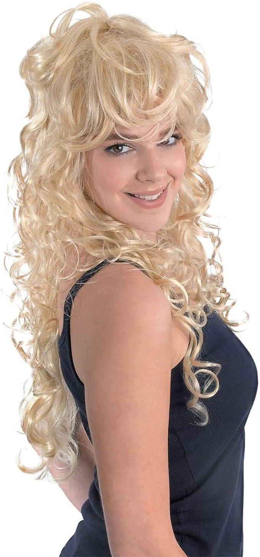 LHWY Perruque Femme Perruque Blonde Perruque Blonde Longue Perruques Blondes Ondul/ées Boucl/és Longues Perruque Cheveux Longs Blonds et Ondul/és