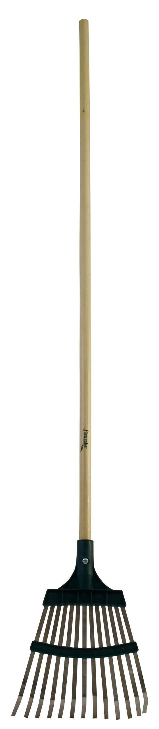 Flexrake 10W Shrub Rake 10-Inch Metal/Poly with 48-Inch Wood Handle