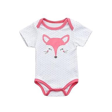 c9a8397df Amazon.com  Lavany Baby Romper Infant Boy Girls Cute Fox Print ...