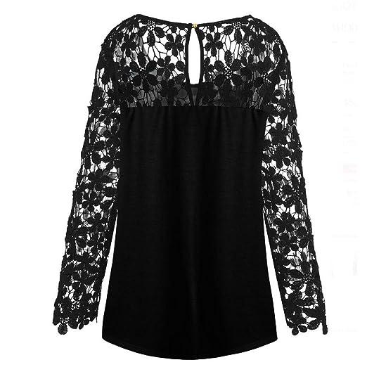 Luckycat Mujeres Merry Christmas Plus Size Impreso Encaje Patchwork asimétrico T-Shirt Tops: Amazon.es: Ropa y accesorios