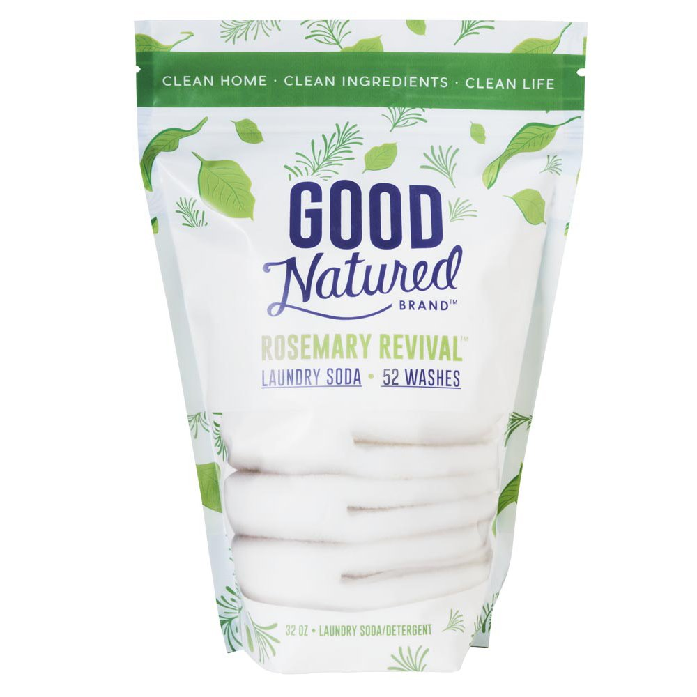 Good Natured Brand the Best All-Natural Eco-friendly Rosemary Laundry Soda Detergent 52 load bag 30 oz.