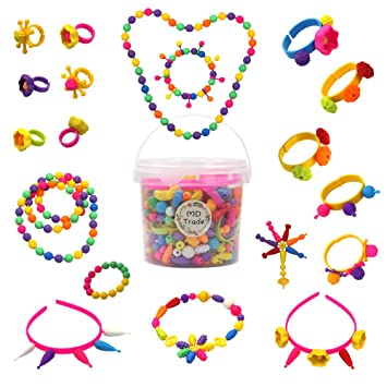 afb224a08e20 520 Pc Pop (conjuntos de cuentas Art Craft DIY kit para hacer joyas para  niñas collares
