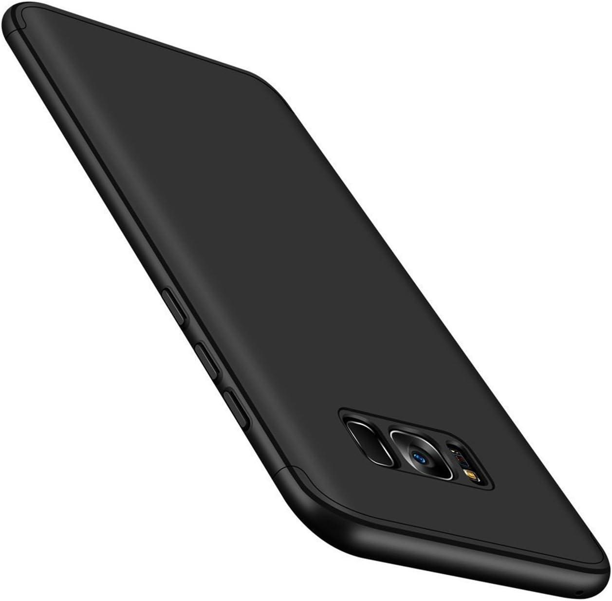 Qissy® Carcasa Samsung Galaxy S8 Plus,3 in 1 Todo Incluido Anti-Scratch Ultra Slim Protective 360 PC Case Cover para Samsung Galaxy S8/S8 + (Samsung Galaxy S8 Plus, Negro): Amazon.es: Electrónica