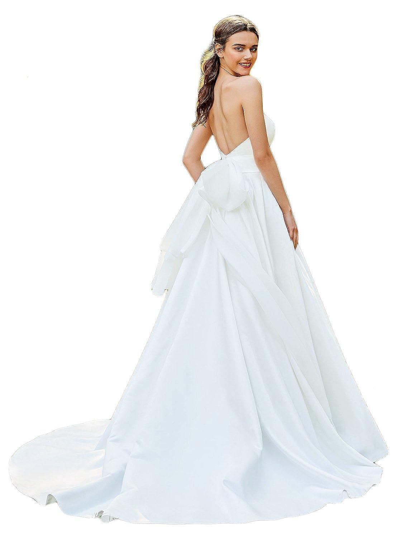Fairy Wedding Dress.Lmbridal Womens Strapless A Line Chiffon Wedding Dress Fairy Bridal Long Wdcr24