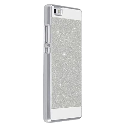 Funda Huawei P8 Lite, Carcasa Huawei P8 Lite Brillar, Moon mood® Brillante Bling Ultra-Fina Cristal Dura PC Case Protectora Caja del Teléfono Cover ...