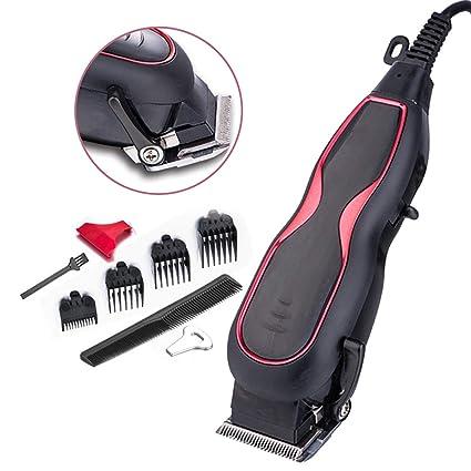 Maquina para cortar pelo, Cortapelos profesional, corte de pelo enchufable para hombres y mujeres, hoja y potencia ajustables, alto rendimiento, ...