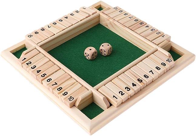 JIANGQIAO Deluxe de Cuatro Lados 10 Números cerró la Junta Game Box Set for Adultos Familias Juegos de Mesa: Amazon.es: Juguetes y juegos