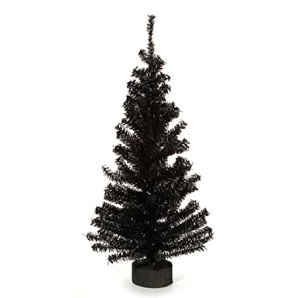 2 foot black artificial pine tree for christmas halloween and year round decor - Black Artificial Christmas Tree