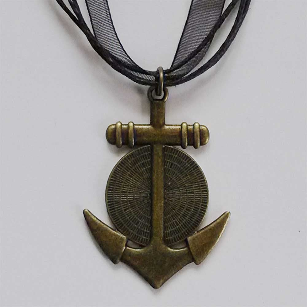 GiftJewelryShop Bronze Retro Style Olympics Taekwondo Cartoon Anchor Charm Pendant Necklaces #8