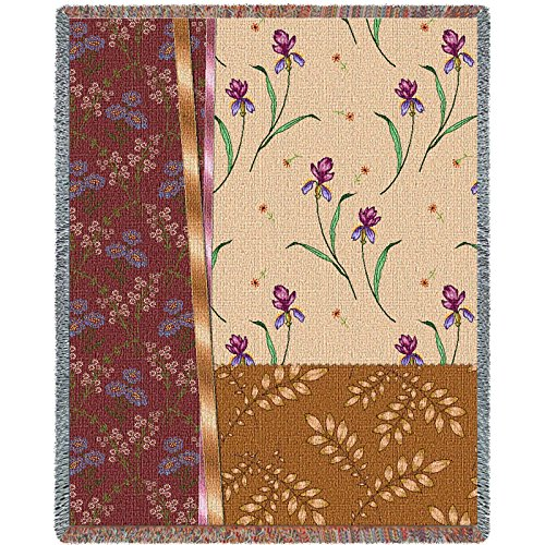 Pure Country Weavers Floral Tapestry (Pure Country Inc. 3805-T Botanical Swatches Cafe Blanket Tapestry Throw)