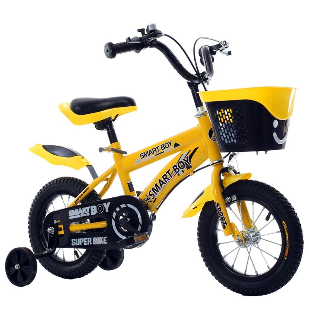KANGR-子ども用自転車 子供の自転車アウトドアマウンテンバイク2-3-6-8ボーイズとガールズ子供用玩具調節可能ハンドルバー/トレーニングホイール付きサドル-12 / 14/16/18インチ ( 色 : イエロー いえろ゜ , サイズ さいず : 12 inch ) B07BTMJM6B 12 inch|イエロー いえろ゜ イエロー いえろ゜ 12 inch