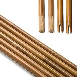 Milaem Tiro con Arco Flecha de bambú Flecha Eje 83cm para la Caza de Bricolaje Diámetro de la Flecha 8 mm (Paquete de 24): Amazon.es: Deportes y aire libre