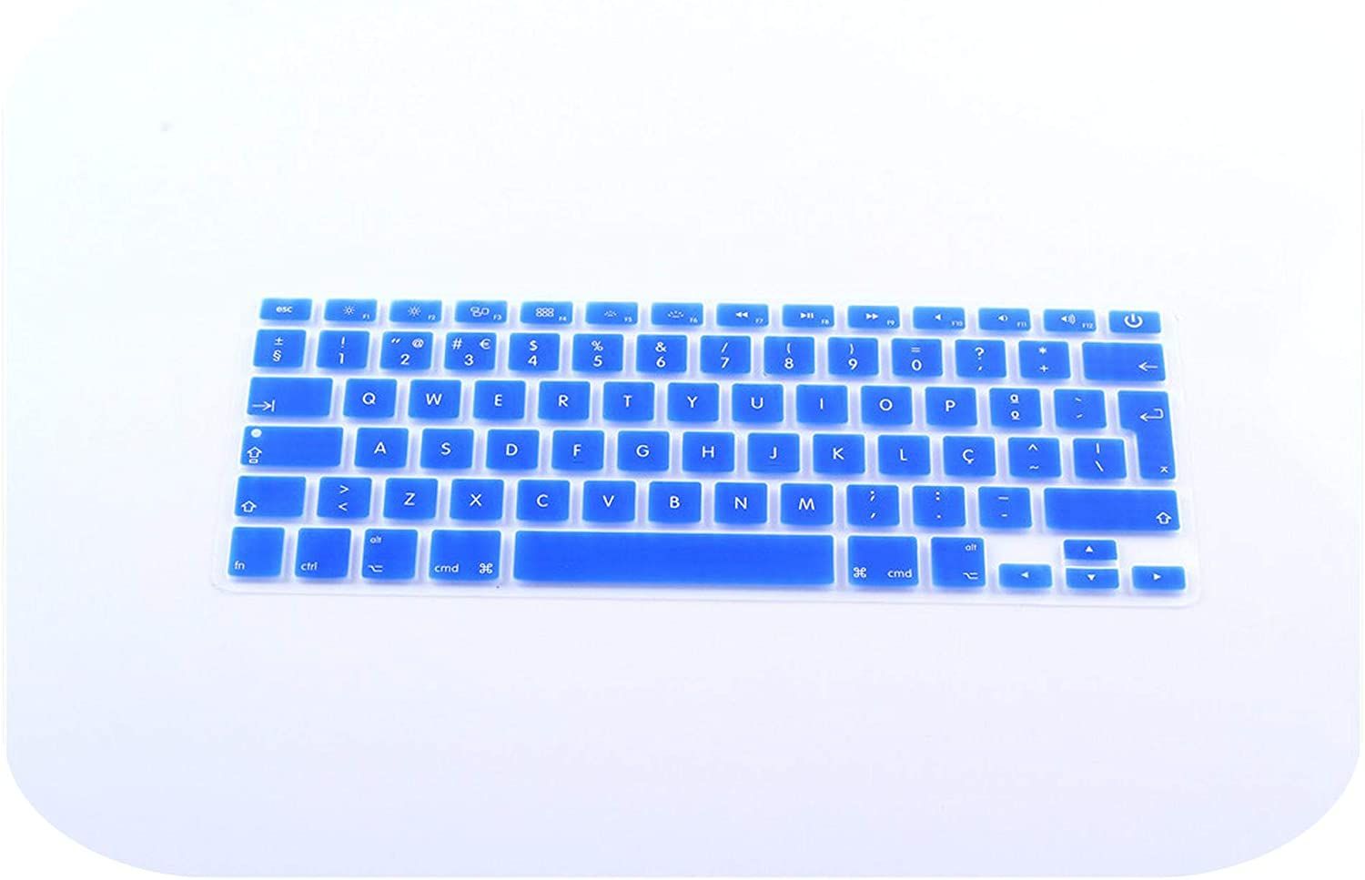 Portugal Euro Version Layout Silicone UK//EU Keyboard Protector Cover Stickers Skin for MacBook Air 13 Pro 13 15 17-Gold