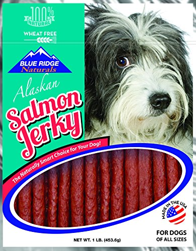 Blue Ridge Naturals Oven Baked Salmon Jerky Dog Treats, 1lb (Treats Salmon)