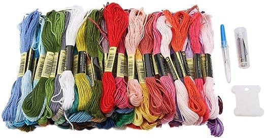 cesteria hilo de bordado Color arcoíris punto de Cruz Algodón ...