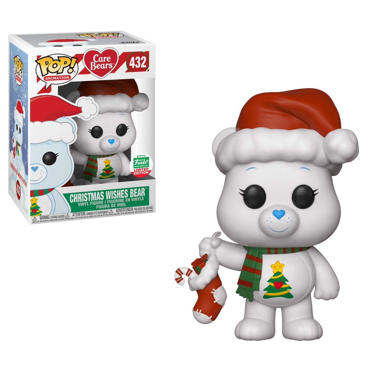 Funko POP  Animation  Care Bears  Christmas Wishes Bear  432 Shop's [2018] 12 Days of Christmas Exclusive