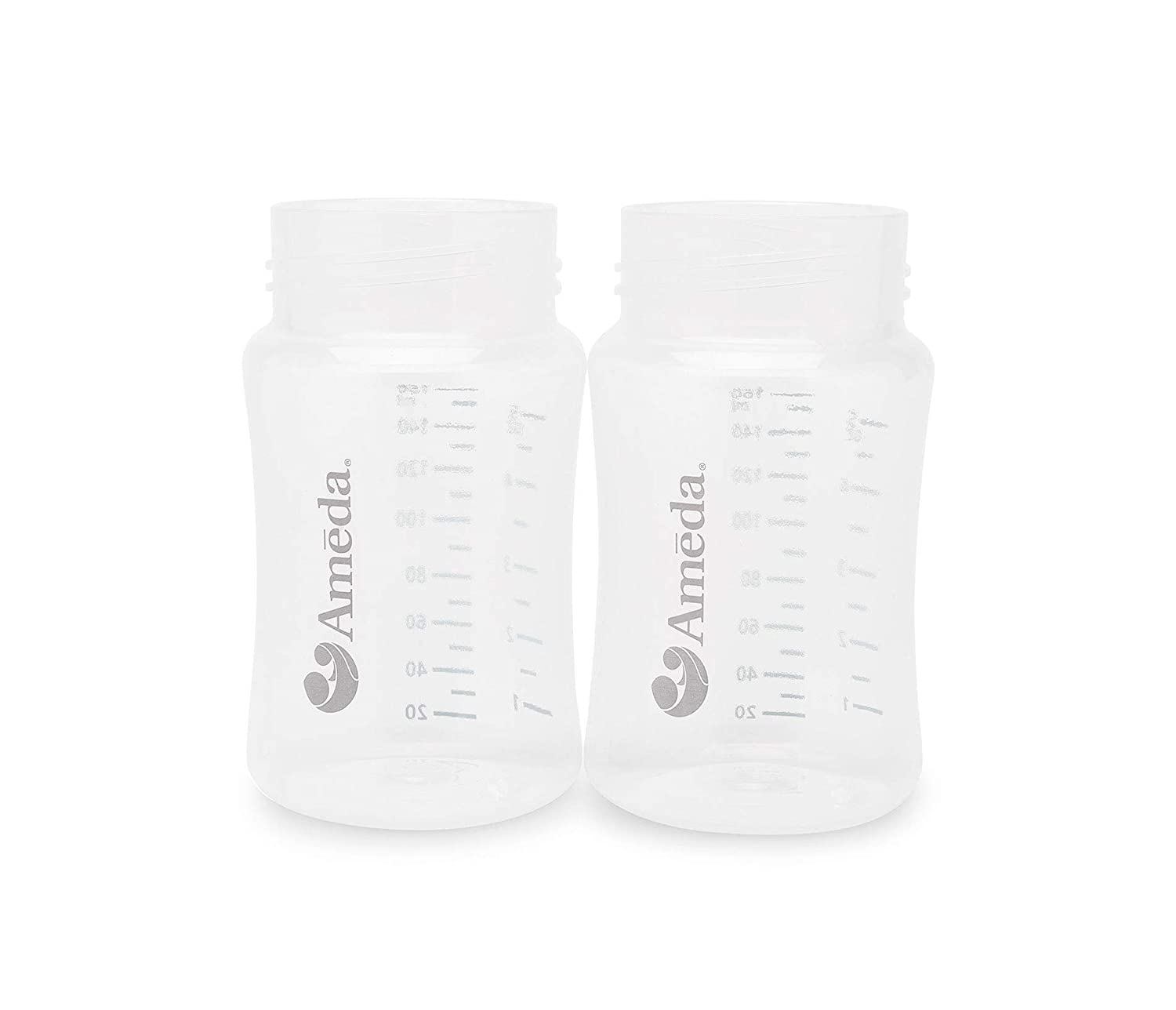 Ameda MYA Breast Pump Replacement Bottles (2); Caps Sold Separately