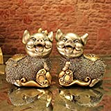 WWQY European wedding gift couple pig resin animal ornaments creative home decorations auspicious gifts 19 13 19/19 13 19 , 191319/191319