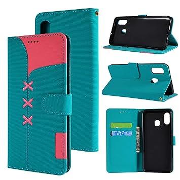 FAMOBIE Funda para Samsung Galaxy A20, Flip Case con Tapa ...
