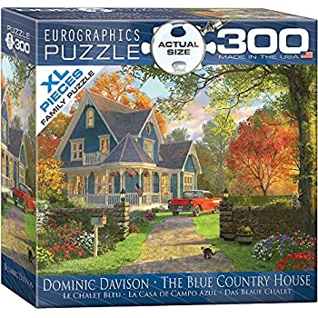 EuroGraphics The Blue Country House by Dominic Davison 300-Piece Puzzle (Small Box)