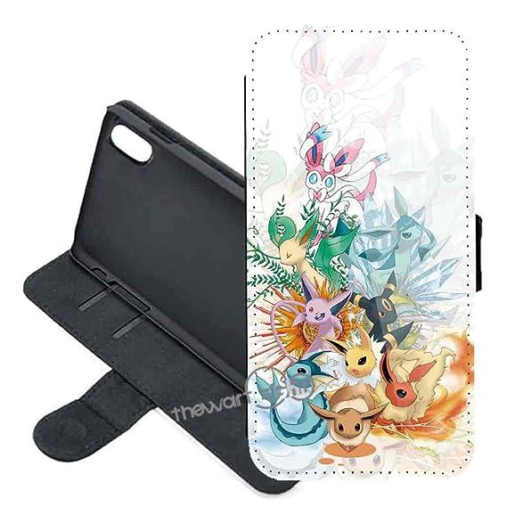 finest selection 6e9e7 fc823 Amazon.com: Apple iPhone XR Case Cover, Pokemon Pikachu PU Leather ...