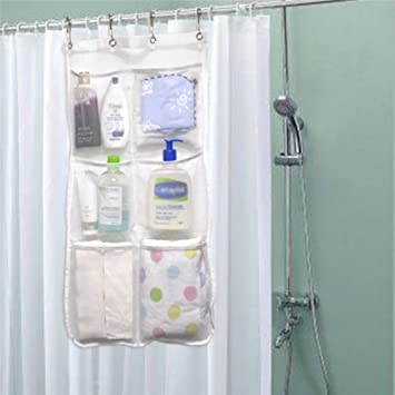 Amazon Shower Curtain Caddy 6 Pockets Loading 25LB