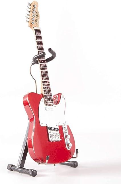 Candy Apple FT-008 - Mini guitarra eléctrica (escala 1/4), color rojo: Amazon.es: Instrumentos musicales
