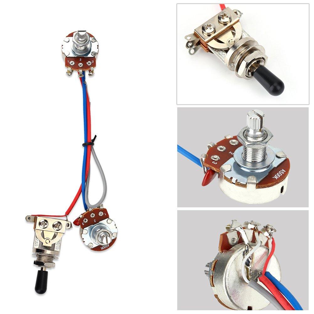 arn/és de cableado de 3 v/ías con Interruptor precableado para bajo de Guitarra el/éctrica Bnineteenteam Arn/és de cableado de Guitarra
