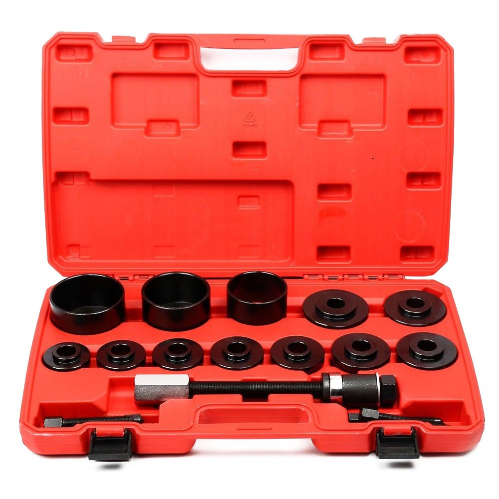 MILLION PARTS Front Wheel Hub Drive Bearing Removal Install Puller Pulley Tool Kit w/case - 19pcs