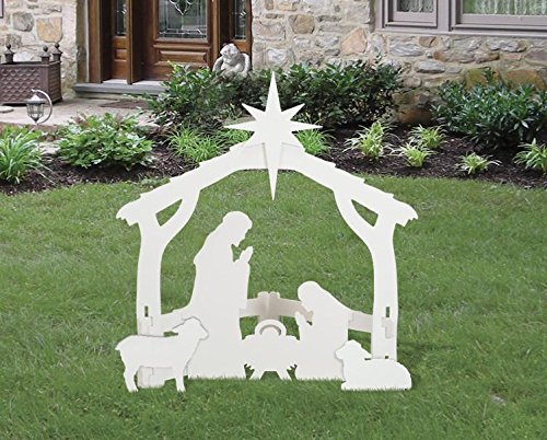 Best rated in outdoor nativity scenes helpful customer reviews outdoor white nativity set product image solutioingenieria Choice Image
