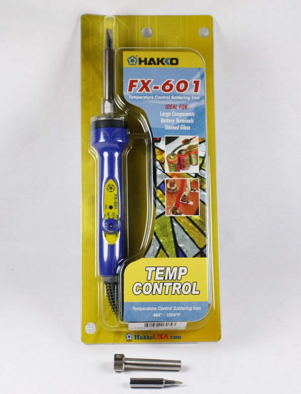 NEW HAKKO FX-601-01 Adjustable Temp-Control Soldering Iron For Stained Glass