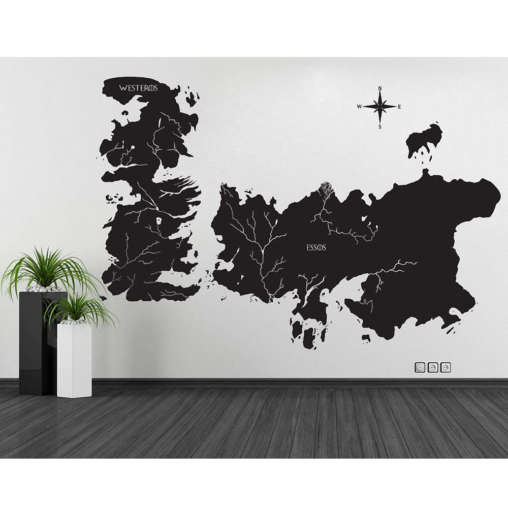 Amazon game of thrones world map art wall sticker vinyl amazon game of thrones world map art wall sticker vinyl decal wd 0708 everything else gumiabroncs Gallery