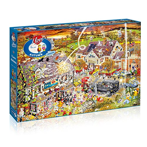 Gibsons I Love Autumn Jigsaw Puzzle, 1000 Piece -